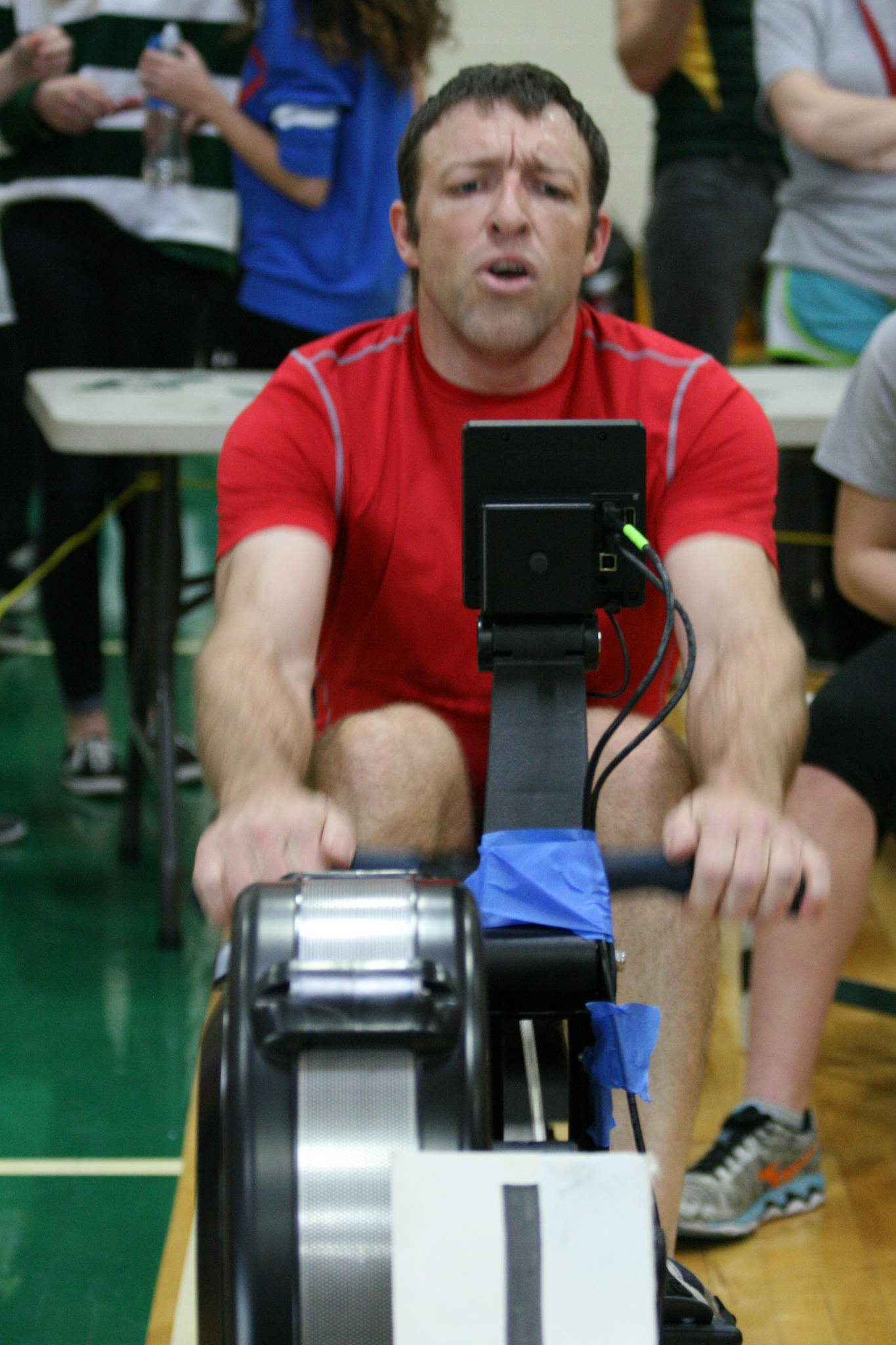 Seairth Jacobs competing at the 2015 Erg Pull